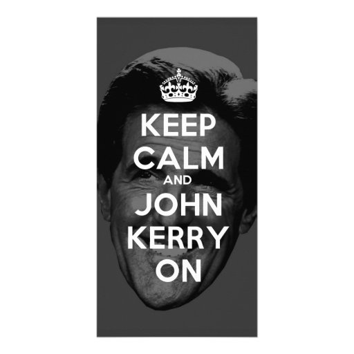 Keep Calm and John Kerry On Photo Greeting Card