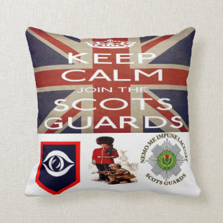 Keep Calm and join The Scots Guards Cushion Throw Pillows