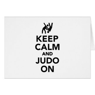 Keep calm and Judo on Card