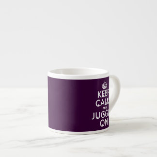Keep Calm and Juggle On (in any color) Espresso Cup