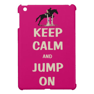 Keep Calm and Jump On Pink Horse Cover For The iPad Mini