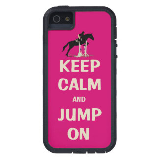 Keep Calm and Jump On Pink Horse iPhone 5 Cases