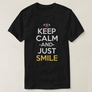 Keep Calm And Just Smile Anime Shirt