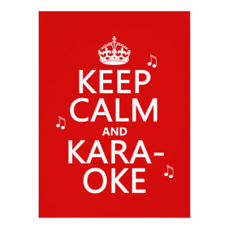 Keep Calm and Karaoke (customize color) Card