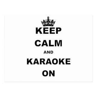 KEEP CALM AND KARAOKE ON.png Postcard