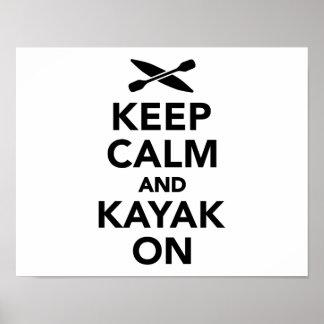 Keep calm and Kayak on Poster