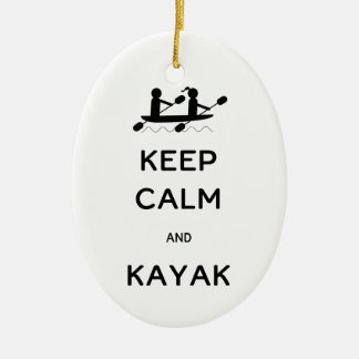 Keep Calm and Kayak with Me Christmas Ornament