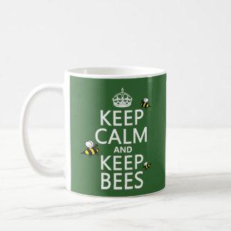 Keep Calm and Keep Bees - all colours Basic White Mug