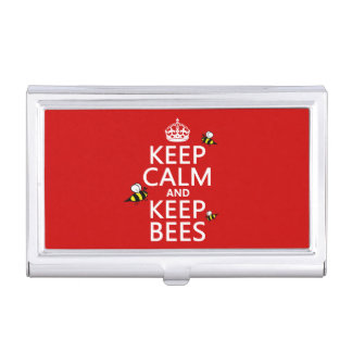 Keep Calm and Keep Bees - all colours Business Card Holder