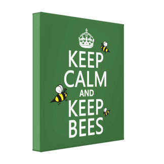 Keep Calm and Keep Bees - all colours Canvas Print