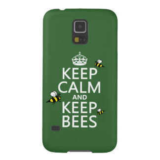 Keep Calm and Keep Bees - all colours Galaxy S5 Case
