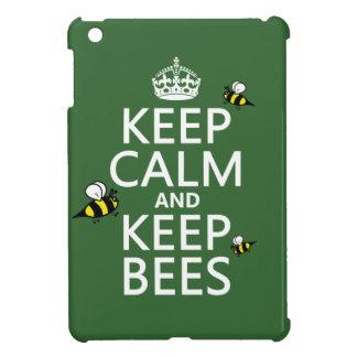 Keep Calm and Keep Bees - all colours iPad Mini Case
