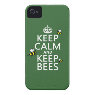 Keep Calm and Keep Bees - all colours iPhone 4 Covers