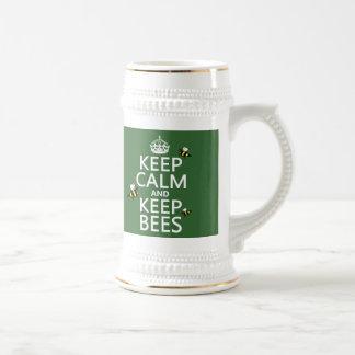 Keep Calm and Keep Bees - all colours Coffee Mug