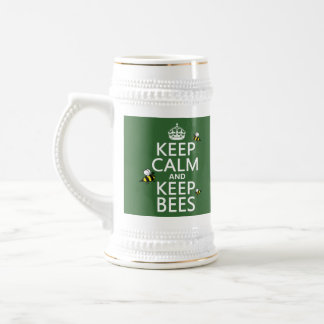 Keep Calm and Keep Bees - all colours 18 Oz Beer Stein