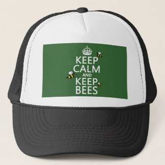 Keep Calm and Keep Bees - all colours Trucker Hat