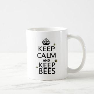 Keep Calm and Keep Bees Basic White Mug