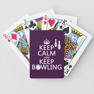 Keep Calm and Keep Bowling - all colours Bicycle Playing Cards