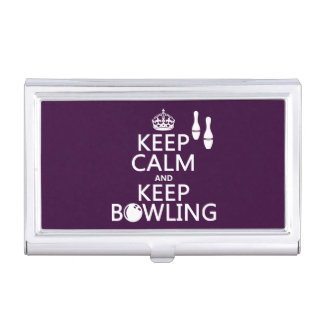 Keep Calm and Keep Bowling - all colours Business Card Holder