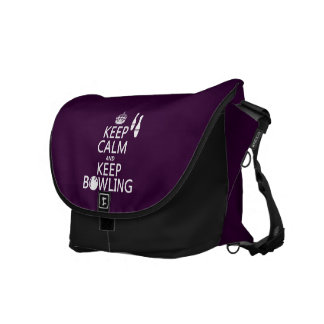 Keep Calm and Keep Bowling - all colours Commuter Bag