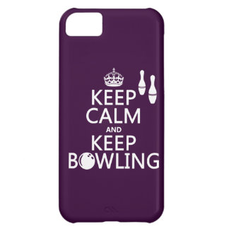Keep Calm and Keep Bowling - all colours iPhone 5C Case