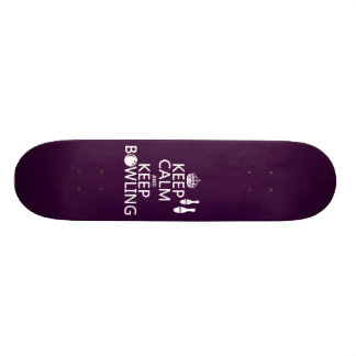 Keep Calm and Keep Bowling - all colours Skateboard Deck