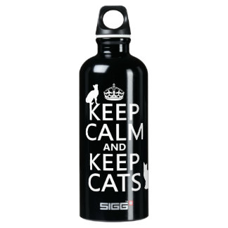 Keep Calm and Keep Cats Water Bottle