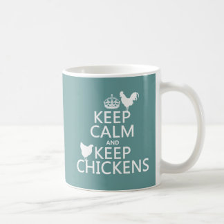 Keep Calm and Keep Chickens (any background color) Coffee Mug
