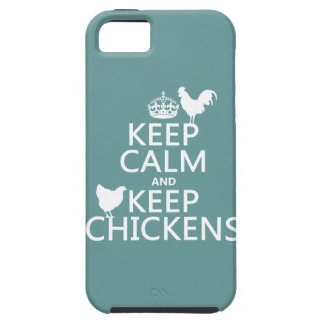 Keep Calm and Keep Chickens (any background color) iPhone 5 Case