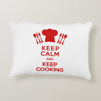 Keep Calm and Keep Cooking Accent Pillow