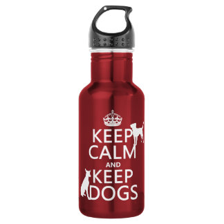 Keep Calm and Keep Dogs - all colours 532 Ml Water Bottle