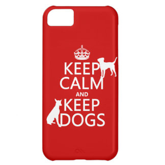 Keep Calm and Keep Dogs - all colours iPhone 5C Case