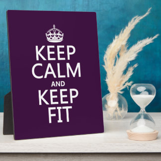 Keep Calm and Keep Fit (customize colors) Plaque