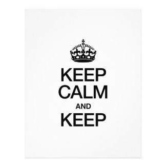 KEEP CALM AND KEEP FULL COLOR FLYER