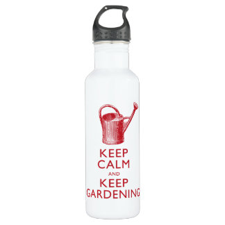 Keep Calm and Keep Gardening Funny Gardener 710 Ml Water Bottle