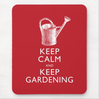 Keep Calm and Keep Gardening Gardener's Funny Mouse Mat