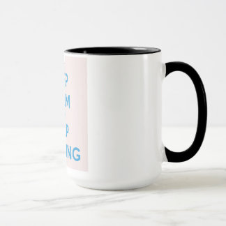 Keep Calm and Keep Knitting Mug