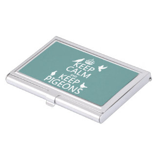 Keep Calm and Keep Pigeons - all colours Business Card Holder