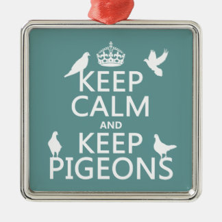 Keep Calm and Keep Pigeons - all colours Christmas Ornament