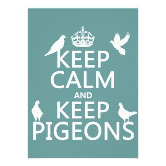 Keep Calm and Keep Pigeons - all colours Personalized Announcements