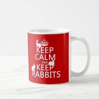 Keep Calm and Keep Rabbits - all colors Classic White Coffee Mug