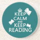 Keep Calm and Keep Reading Coasters
