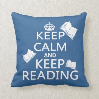 Keep Calm and Keep Reading Cushion