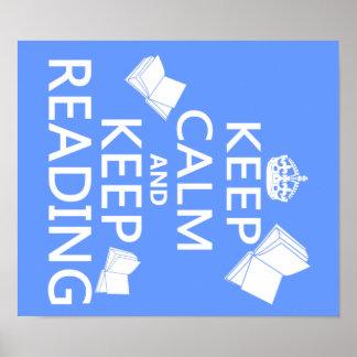 Keep Calm and Keep Reading Print