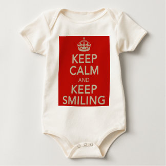 Keep Calm And Keep Smiling Babygrow Baby Bodysuit
