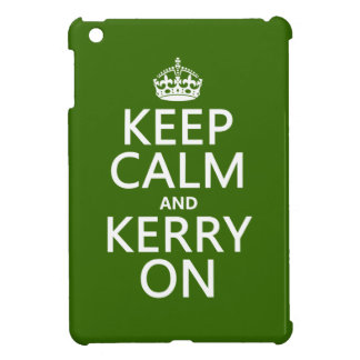 Keep Calm and Kerry On (any background color) iPad Mini Cases