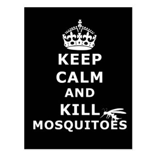 Keep calm and kill mosquitoes - mosquitos postcard