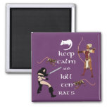 Keep Calm and Kill Ten Rats MMORPG Gamer Magnet