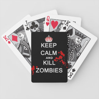 keep calm and kill zombie deck of cards