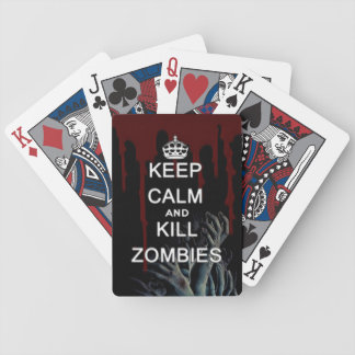 keep calm and kill zombies bicycle playing cards